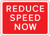 Reduction in speed necessary for a change in road layout ahead