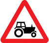 Agricultural vehicles likely to be in road ahead