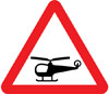 Low flying helicopters or sudden helicopter noise likely ahead